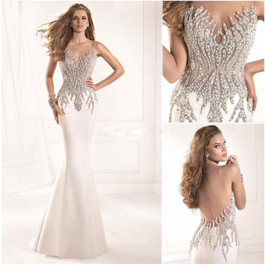 dae54002485 Shiny Sheer Scoop Neckline Beading Tarik Ediz Prom Dresses Mermaid Evening  Gown Backless Floor Length 2014 New Online with  129.01 Piece on Hjklp88 s  Store