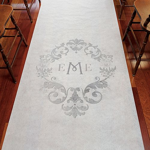 Wedding - Monogram Simplicity Personalized Aisle Runner