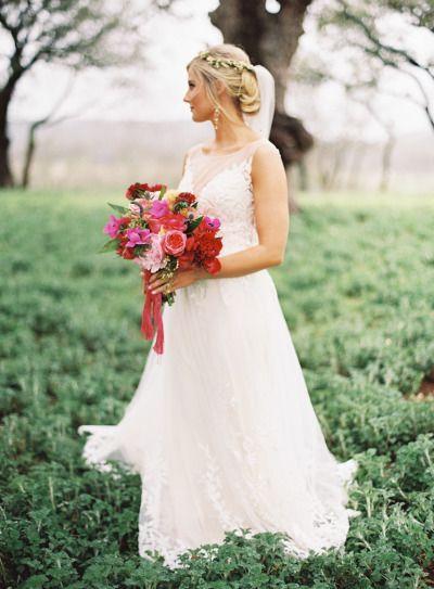 Wedding - Colorful Boho Glam Texas Hill Country Wedding