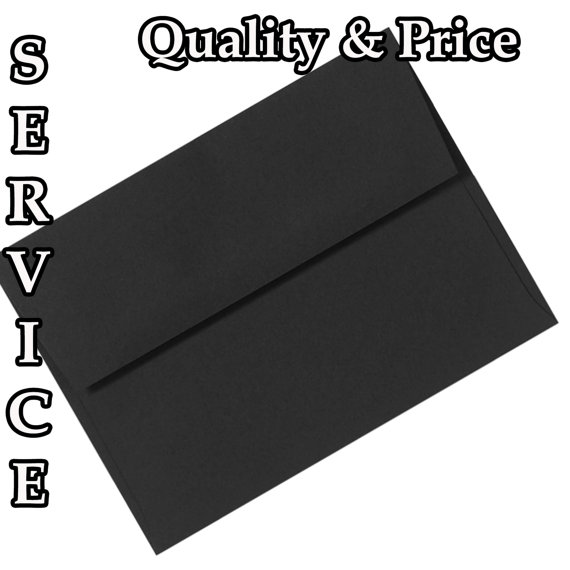 50 pack of a2 a6 or a7 midnight black 70lb envelopes for invitations