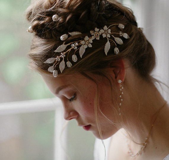 Wedding - Wedding hair accessory set Empress no. 2107