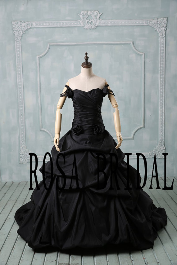 Plus Size Wedding Dress Black Off The Shoulder Wedding Dress Plus