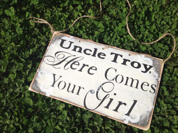 Wedding - Ring bearer sign, wedding sign....just message me if you would like to see this in another color
