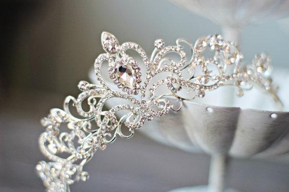 Swarovski Crystal Bridal Tiara Heart Bridal Tiara Crystal Wedding