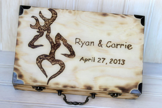 Card box personalized design love letter ceremony box rustic wedding