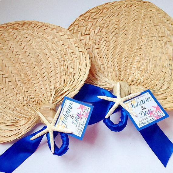 Wedding - Palm Leaf Hand Fans, Raffia Fans, Wedding Fans, Buri Fans