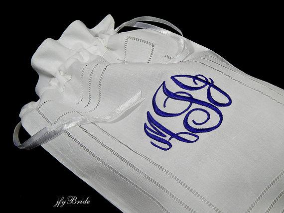 Свадьба - Irish Linen Lingerie Bag, Style 9843