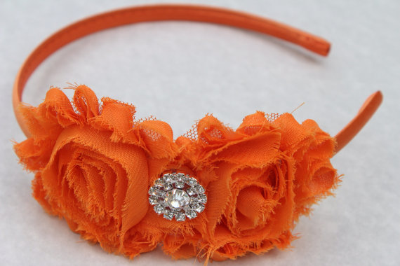 orange flower girl headband Orange headband plastic headband satin headband  toddler headband orange girls headband hard headband wedding 75e05ed86cd