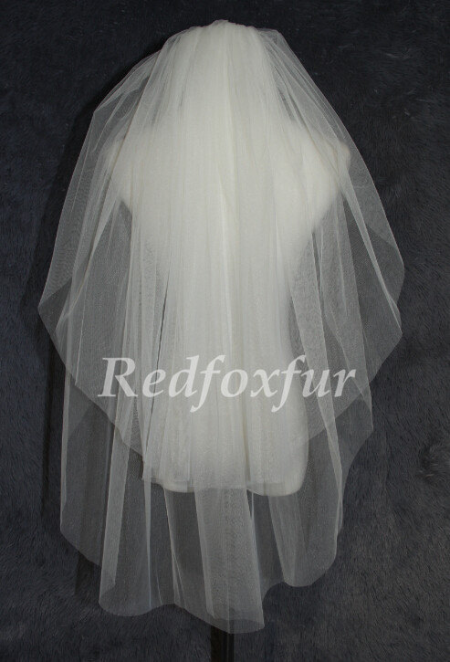 Mariage - Wedding veil Two layer veil, simple bridal veil, cheap wedding veil, cutting edge veil + Comb