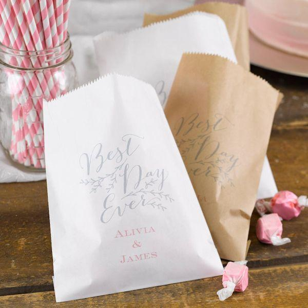 Hochzeit - Personalized Rustic Vines Favor Bags (Set Of 50)