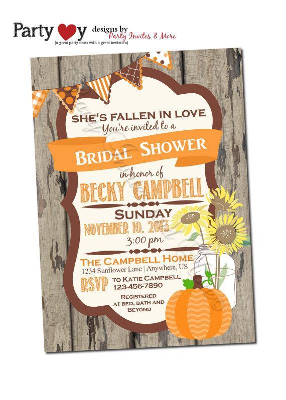 زفاف - Fall Bridal Shower Invitation, Fall Wedding Shower Invitation, Pumpkin Bridal Shower Invitation, Sunflower Bridal Shower Invitation
