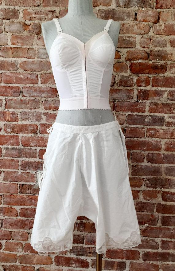 Свадьба - Size M - Antique Bloomers - White Pantaloons - Victorian Knickers - Ren Faire - Peasant - Reenactment