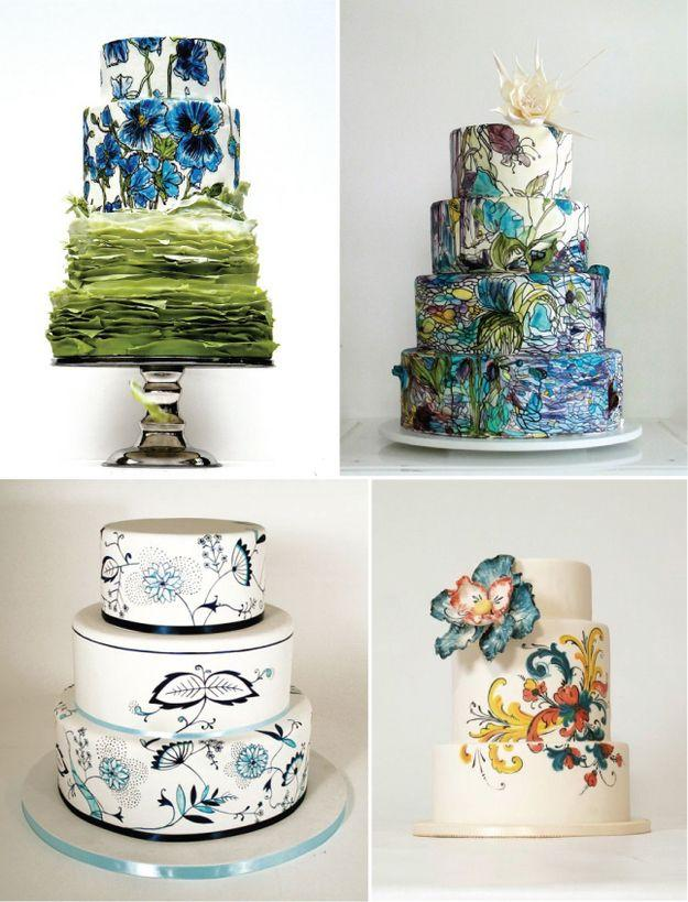 Свадьба - Community Post: 22 Gorgeously Hand Painted Cakes That You Need To Have At Your Wedding