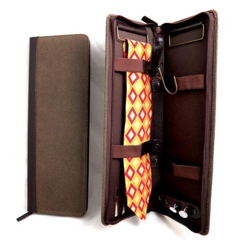 Свадьба - Leather Tie Case, Brown