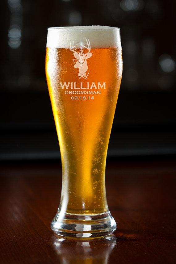 beer glass groomsmen gift custom beer glass personalized beer
