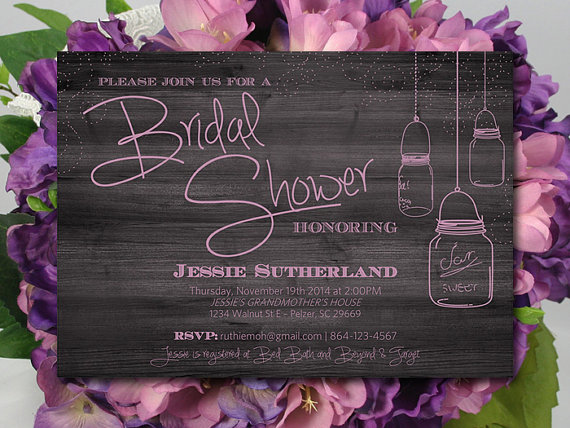 mason jar bridal shower invitation template download rustic wedding shower template orchid invitation rustic bridal shower invitation