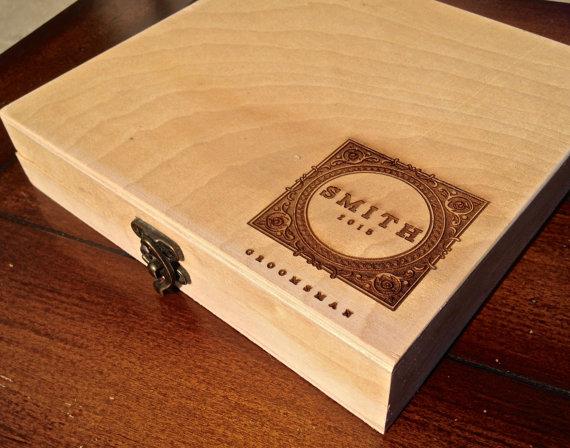 Groomsmen Gift Box - Personalized Cigar Box – Engraved
