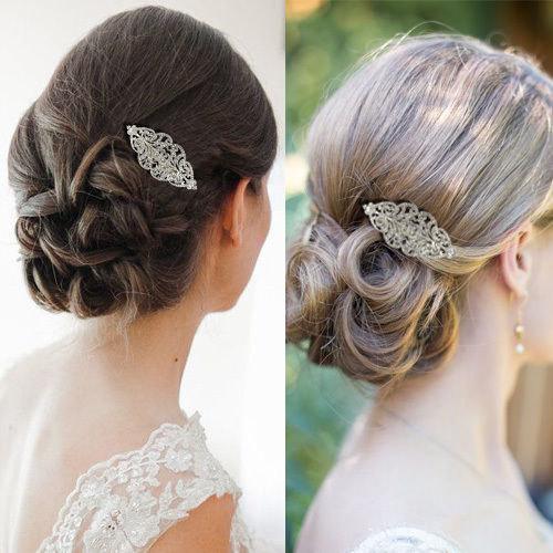 "Свадьба - Bridal Hair Comb Wedding Hair Comb Crystal ""Silver  Wedding Hair Piece Bridal Jewelry Wedding Jewelry Bridal Accessories Style-150"