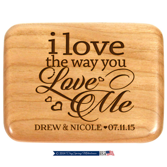 Свадьба - Personalized wedding ring box,Custom Engagement ring box,custom ring box,Ring Bearer Box,Wooden ring holder Ring holder box for wedding ring