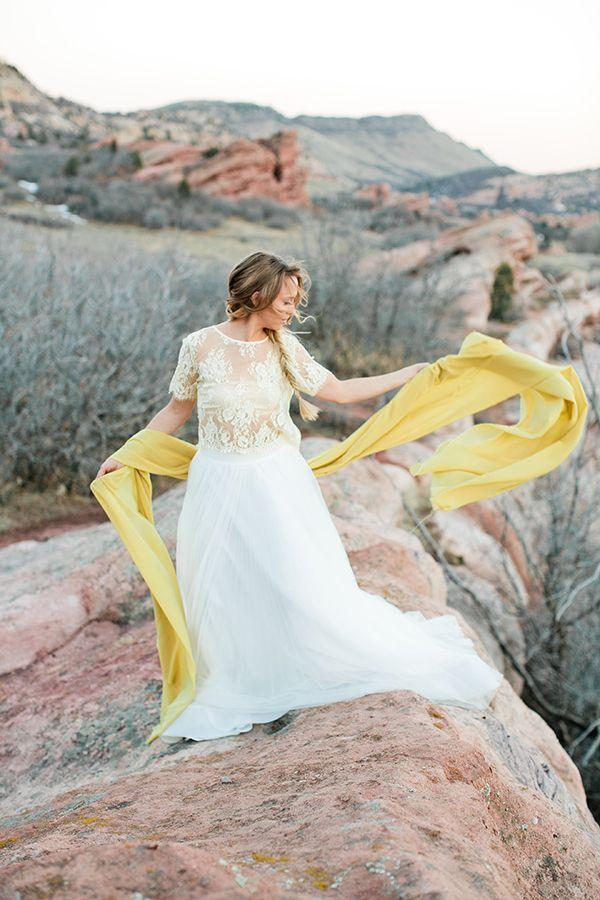 Wedding - Bohemian Desert Wedding Shoot In Colorado