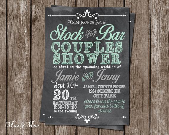 Stock The Bar Invitation Wedding Shower S Digital File Printable