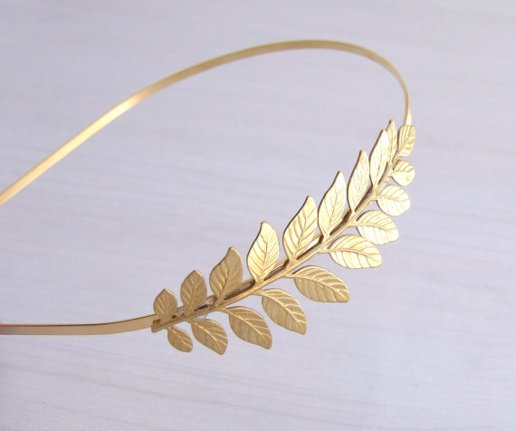 Wedding - Leaf Headband, Vine  Headband, Roman Headband, Bridal Hair Accessories, Bridesmaid Headband, Leaf Crown, Laurel Wreath