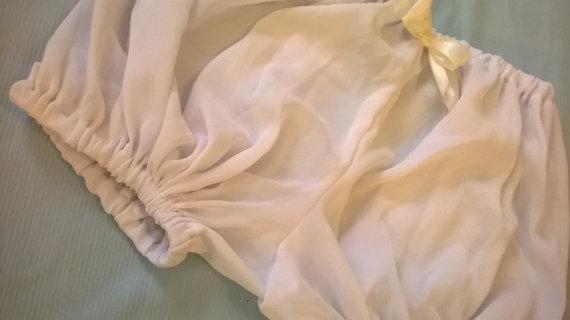 Wedding - Angel White Sheer Crepe Chiffon Bloomers