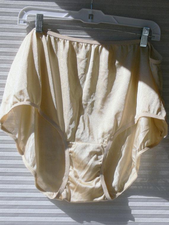 Wedding - nylon  cream panties  size 11