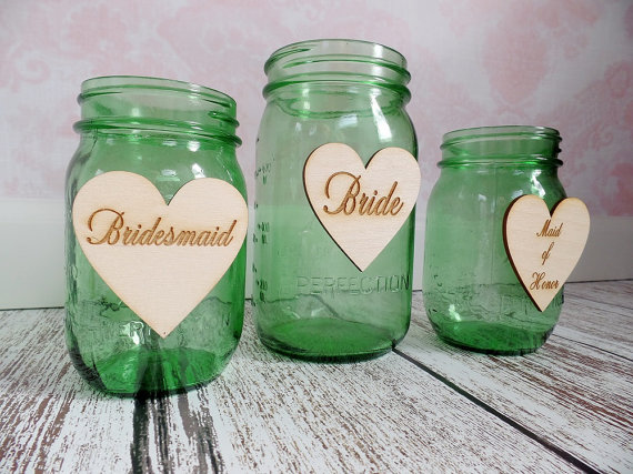 Hochzeit - Rustic Wedding Bride Sign Groom Sign Bridal Party Drink Tags Barn Wedding Sweetheart Table Flower Girl Best Man Gift tag