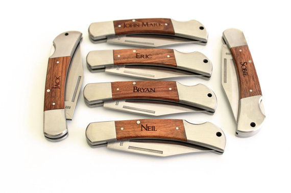 Groomsman Gift Pocket Knife Fathers Day Gift Groomsmen Gifts Hunting ...