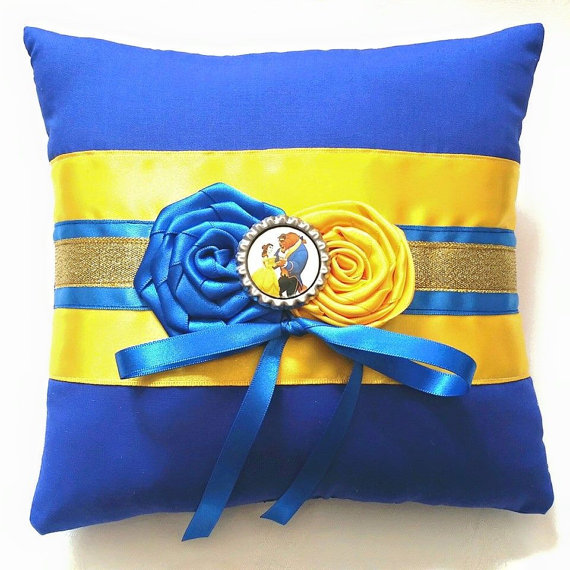 Ceremony - Beauty And The Beast Wedding Ring Pillow #2319981 - Weddbook