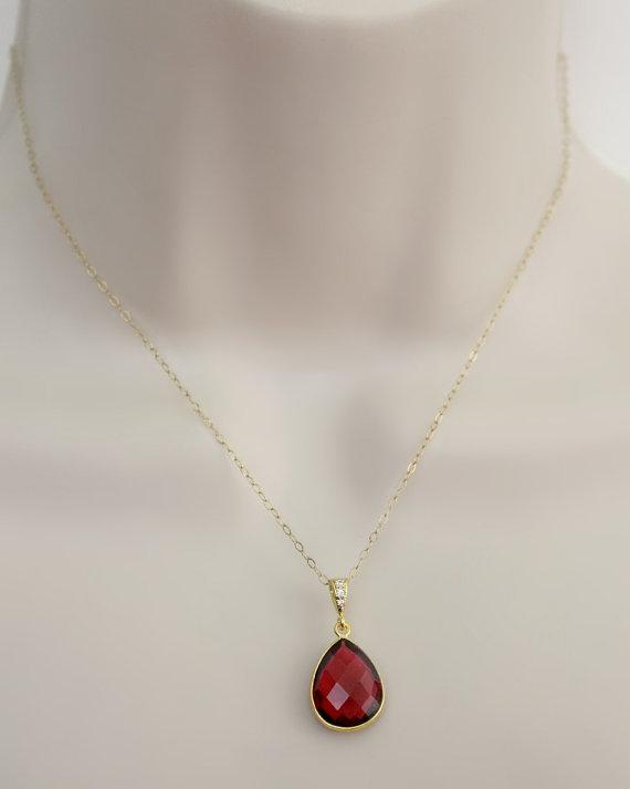Genuine ruby gemstone necklace dainty gold necklace july genuine ruby gemstone necklace dainty gold necklace july birthstone mothers necklace mom gift bridal jewelry wedding jewelry birthday mozeypictures Gallery