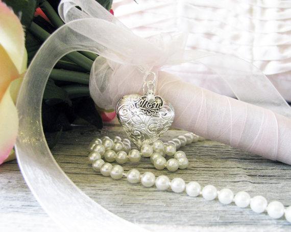 Mariage - Mom  Bridal Bouquet Locket,  Mom Locket