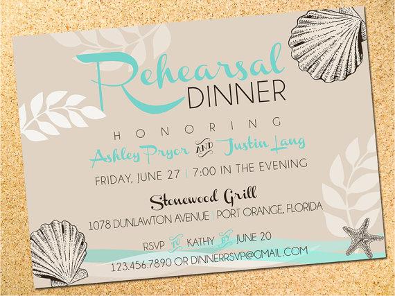 Свадьба - Rehearsal Dinner Invitation - Save the Date - Wedding Invitation - Beach - Customizable - DIY - Printable