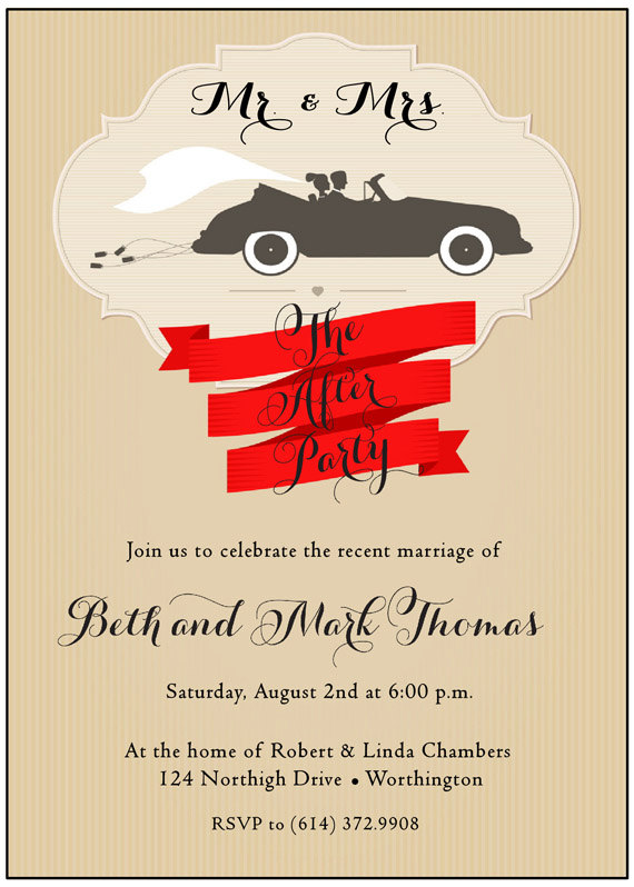 After The Wedding Invitation Bride And Groom Shower Invitation