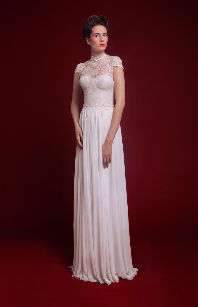 زفاف - Short Sleeved/Cap Sleeved/Off The Shoulder Sleeves Wedding Gown Inspiration