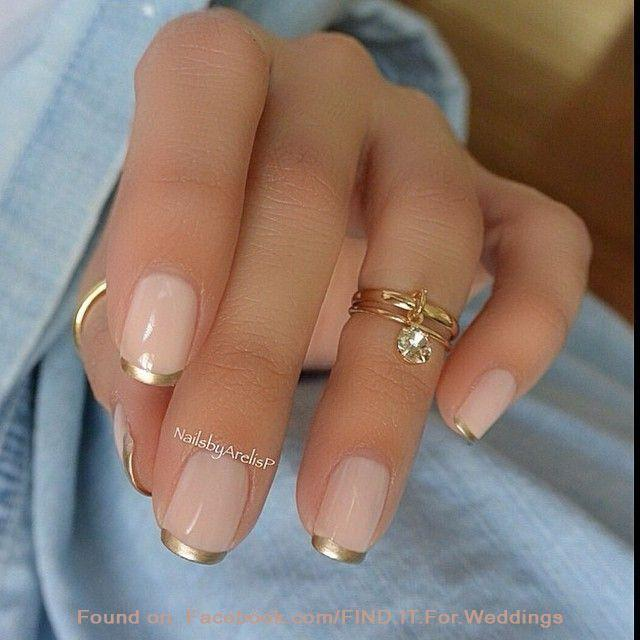 Nail pink and gold french manicure design 2320420 weddbook pink and gold french manicure design prinsesfo Image collections