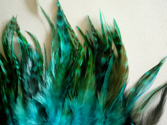 Mariage - COUTURE Chinchilla Saddle /  Teal  Blue   /  2052