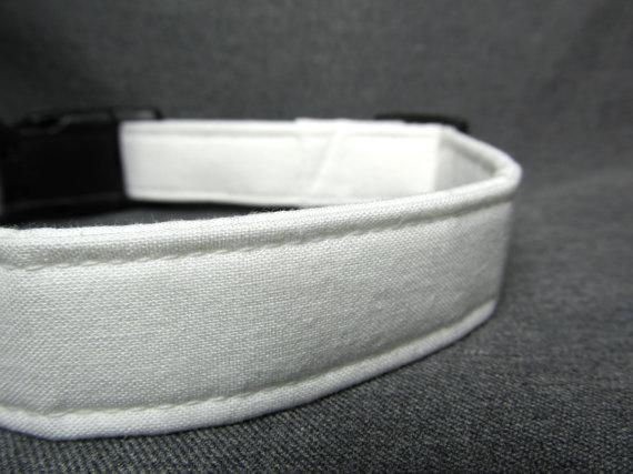Mariage - Designer dog collar - white dog collar - wedding dog collar, white dog collar