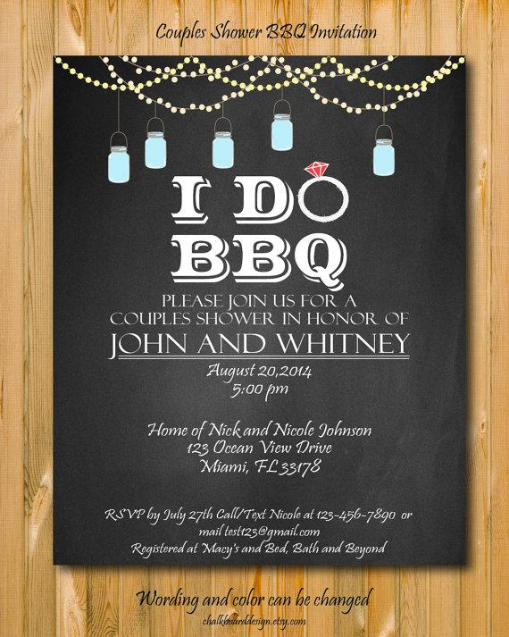 زفاف - Printable I Do BBQ Invitation, DIY Party invitation, I Do BBQ Couples shower, mason jar invitation,