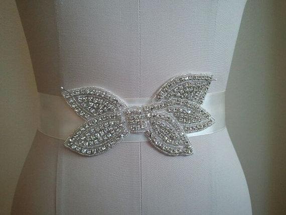 زفاف - Wedding Belt, Bridal Belt, Bridesmaid Belt, Bridesmaid Belt, Crystal Rhinestone - Style B1105