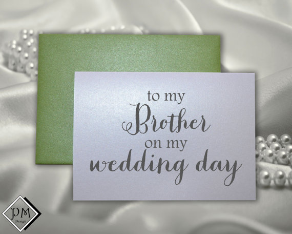 Thank You Wedding Cards For Brother On My Day Card Sets Matching Shimmer Envelopes Engagement Party Bride Groom