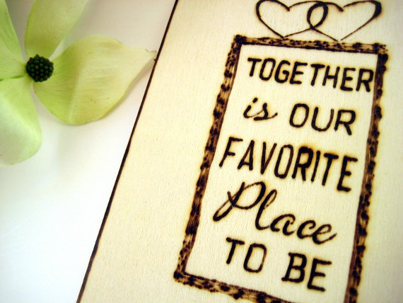 Together Wedding Cake Topper Love Quote Initials Cake Topper