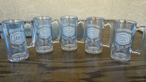 Personalized Beer Mugs Wedding Gift : ... gifts-deep-etched-mugs-name-title-date-best-man-gift-wedding-beer-mug
