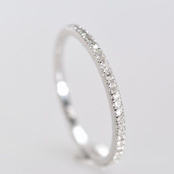 زفاف - Diamonds Wedding Band, 14K Gold Half Eternity Wedding Band, Total 0.25 Carat Diamonds . Payment Plan Is Available. P-076