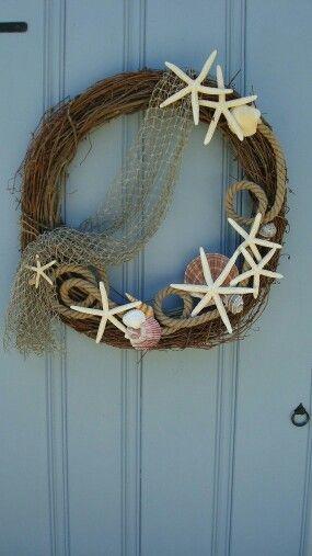 Wedding - Seashell Wreath, Nautical Wreath, Beach Wreath