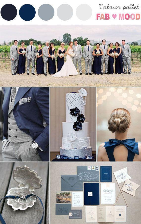 Wedding Theme Navy Blue Silver Inspiration Board 2321069 Weddbook