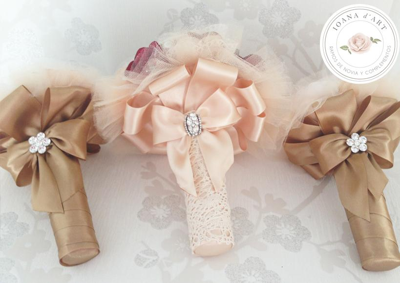 Свадьба - Ramo flores de tela