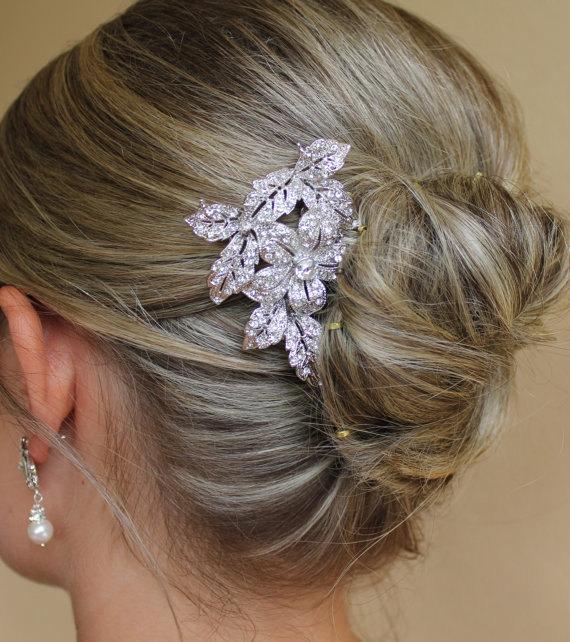 Wedding - Bridal Hair Comb, Vintage Wedding Hair Accessory, Crystal Wedding Hair Comb,  Bridal Head piece LEXI