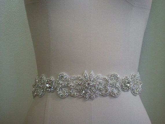 Hochzeit - SALE - Wedding Belt, Bridal Belt, Sash Belt, Crystal Rhinestone Sash - Style B70013